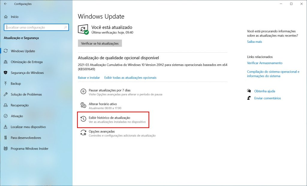 Como corrigir a tela azul da morte do Windows 10 - passo 2