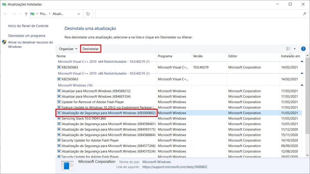 Como corrigir a tela azul da morte do Windows 10 - passo 4