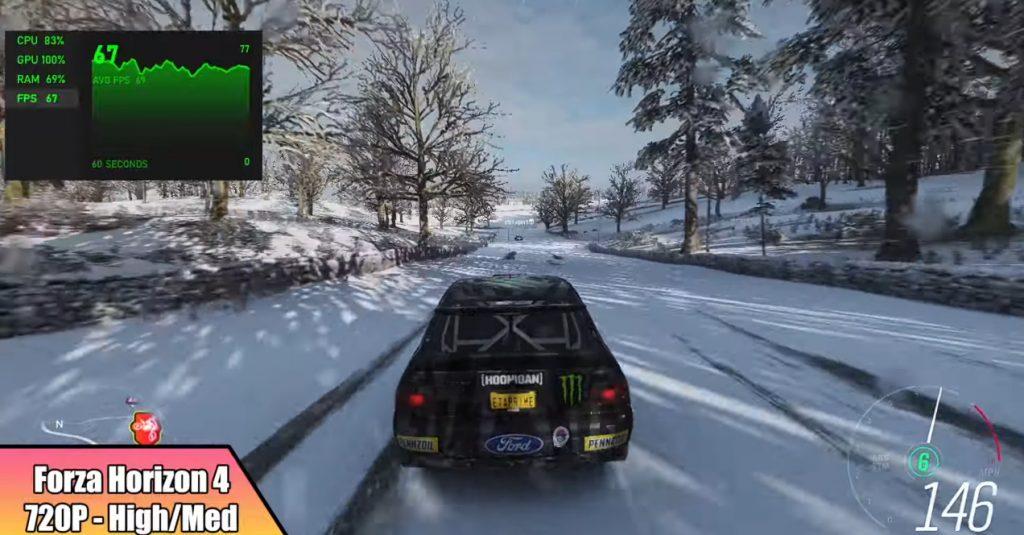 Forza Horizon 4 rodando em PC parecido com Steam Deck