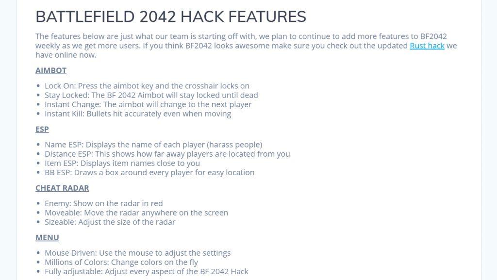 Battlefield 2042 - hacks